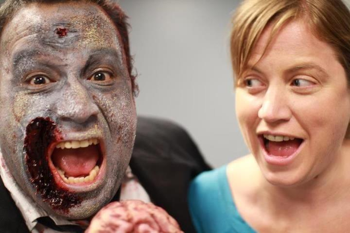 Jodi Cilley with Zombie